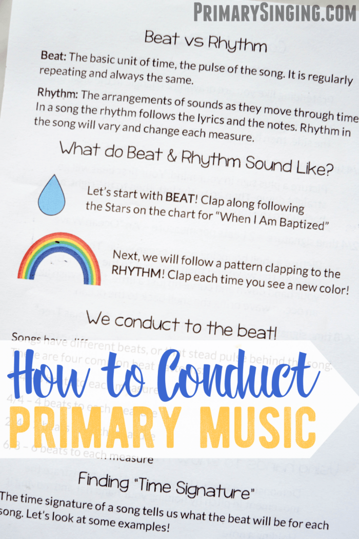 How to Conduct Primary Music