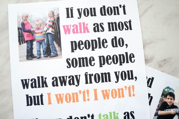 I'll Walk With You Flip Chart