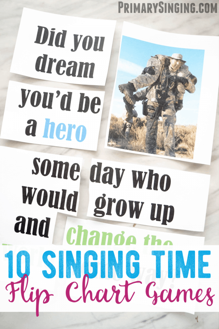 Singing Time Ideas Using Flip Charts