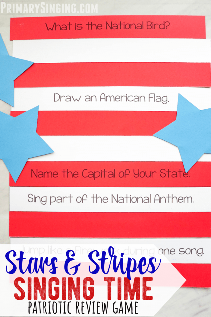 Stars and Stripes Patriotic Singing Time